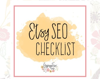 Etsy SEO Guide - SEO Checklist - Instant Download - Etsy Shop Help - Etsy Seo - Etsy How To - Seo Listing - Seo Listing Help - DIY Etsy