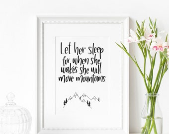 Home Decor | Let Her Sleep | Let Him Sleep | Wall Art | Prints | Nursery Gifts | Children Gifts | Make Today Beautiful