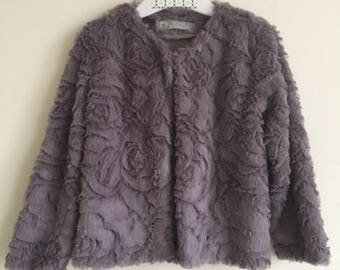 Fleece jacket with floral print size 92-98