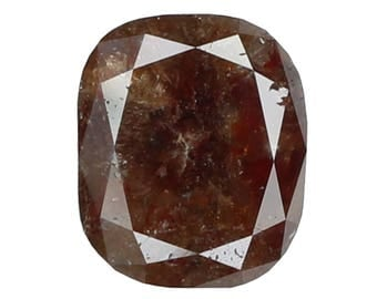 1.60 Ct Natural Loose Diamond Cut Cushion Shape Red Brown Color 7.70X6.40X3.30 MM N3113