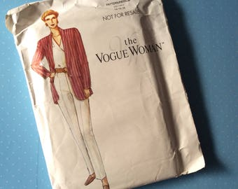 Vintage Sewing Pattern - The Vogue Woman 964/961 - Retro 1990's Dressmaking Pattern - Blazer Trousers Sewing Pattern - Size 14 16 18 Sewing