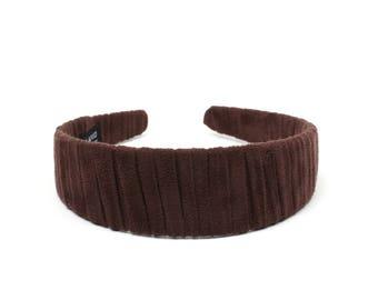 Chamois Headbands, Wide Headbands, Headbands for Women, Brown Headbands