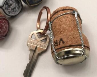 Champagne Cork Keychain