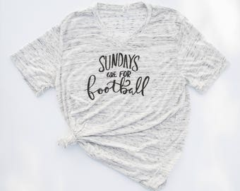 Sundays Are For Football. Womens Graphic Tee. Football Shirt.