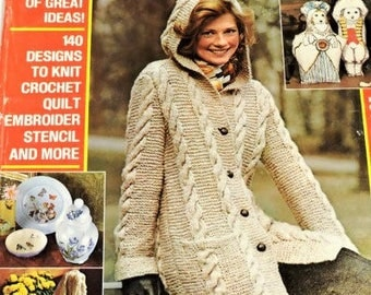 McCall's Needlework & Crafts Magazine,Fall Winter 1975/76,1970s Vintage Knitting Crochet Fiber Arts Sewing and Craft Ideas