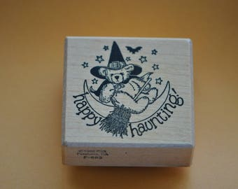 PSX  Rubber Stamp  F-683  1988  Happy Haunting     Vintage