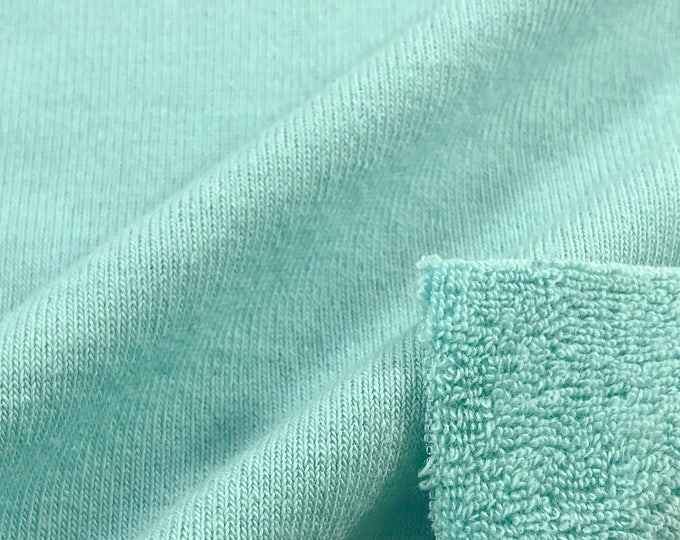 Loop Terry Knit Fabric (Wholesale Price Available By the Bolt) USA Made Premium Quality - 131030SIL 1 Yard