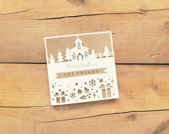 Personalised Christmas Card / Christmas Card / Personalised Christmas / Season Greetings Card / Merry Christmas / Mr&Mrs Christmas Card
