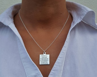 Today a groom tomorrow a husband forever you son necklace, mother of the groom necklace, groom parent, gift from groom, groom mother gifts