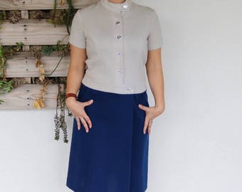 Drop Waist 1960s Mod Dress