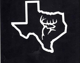 57- Texas deer hunting decal sticker
