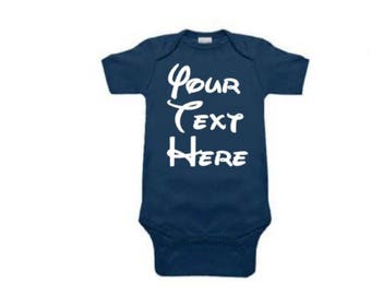Custom Baby Bodysuit   Custom Baby Onesie   Custom Text - Your Text Here Baby Outfit   Baby Shower Gift  Birthday Take Home Outfit   Newborn