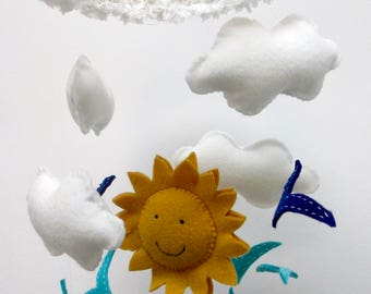 You Are My Sunshine Baby Crib Mobile, New Baby, Shower Gift, Nursery Decoration