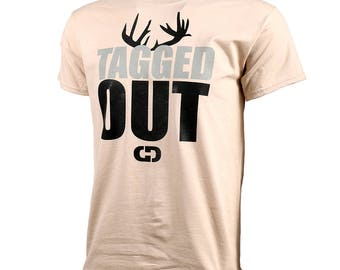 GIMMEDAT Tagged Out Short Sleeve Hunting T-Shirt - Hunting Shirts, Hunting Gifts - Free Shipping!