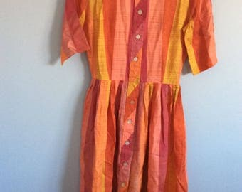 Dress stripes multicolors vintage 60s