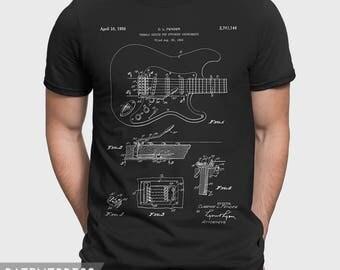 Fender Guitar T-Shirt, Guitar T Shirt, Electric Guitar Gift For Musician, Guitar Player Gift Fender T-Shirt For Music Lover P114