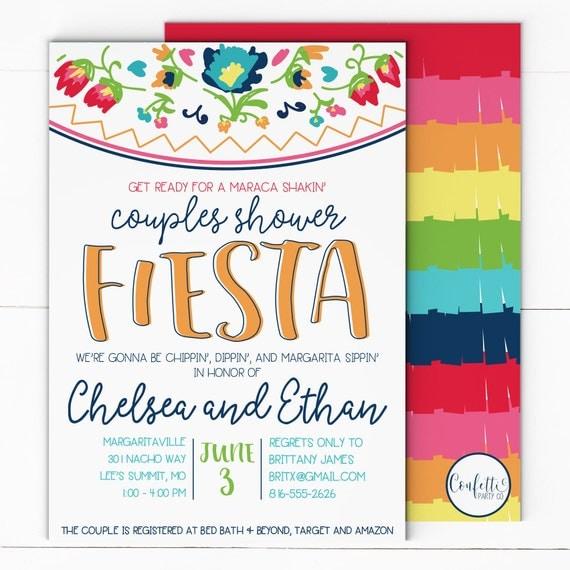 Fiesta Bridal Shower Invitation Fiesta Couples Shower Invitation