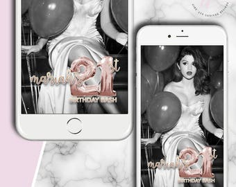 21st BIRTHDAY GEOFILTER: Snapchat Geo-filter Custom, Snapchat Filter Custom Geofilter