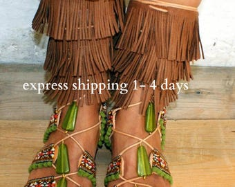 20% OFF MEXICO /Gladiator sandals/ boho sandals/ Handmade Leather Sandals/ ethnic sandals/ Fringed sandals/ Boho Flats/ Tie up Sandals