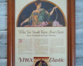 Vintage Advertising - Framed vintage advertising - Elastic advertising - Old advertising - Old framed decor, Vintage clothing ads, retro ads