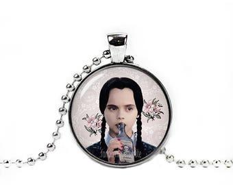 Wednesday Addams Necklace Wednesday Addams Pendant Original Artwork Fandom Jewelry Geeky Fangirl Fanboy
