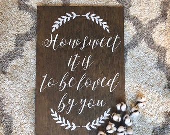 Wedding Cupcake Sign - Rustic Wood Wedding Sign - Wedding Signs - How Sweet It Is To Be Loved By You - Woodsy Wedding