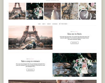 SALE! Parisienne   Responsive Minimalist Premade Blogger Template