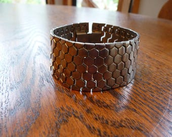 Vintage Crown Trifari Tesselated Honeycomb Bracelet