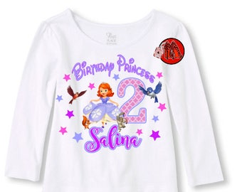 Sofia the First Birthday Shirt Long Sleeve T-shirt