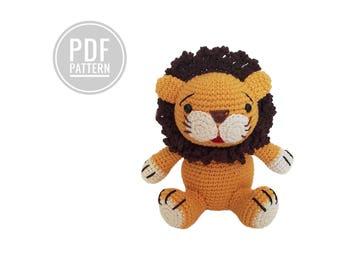 Crochet pattern - lion - amigurumi - crochetbykim - kawaii - 18 cm - pdf