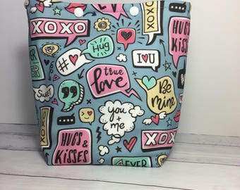 Love Me Do - the Valentine edition Knitting Project Bag - Snap GoGo