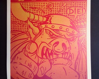 GWAR Vintage Concert Poster Reproduction // Heavy Metal // Awesome // Shock Rock