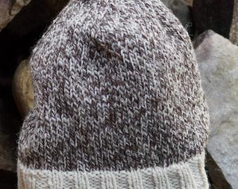 Tweed Sheep  PDF Easy Knit  Hat Pattern