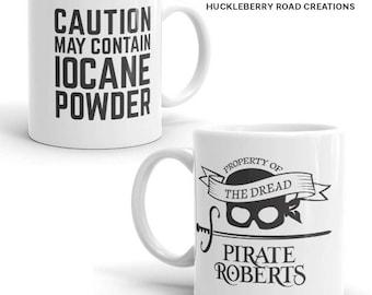 "Princess Bride ""Caution May Contain Iocane Powder"" Dread Pirate Roberts Mug"