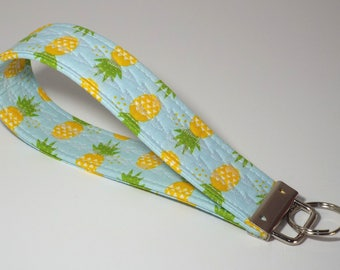 Pineapple Keychain, Key Chain, Key Chain Wristlet, Pineapple Wristlet, Key Fob, Wristlet, Key Fob Wristlet, Key Lanyard, Embroidered Keyring