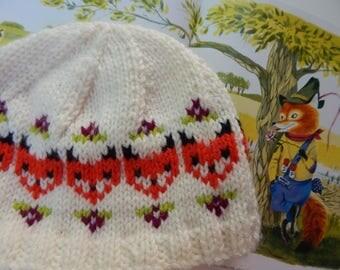 Fox & Fleur Fair Isle Knit Baby Hat / 6-12 mos. / READY TO SHIP