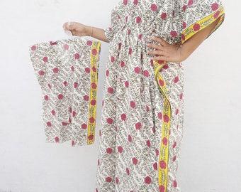 Long Floral Kaftan Cotton kaftan Dress Plus Size Boho Dress Plus size Kaftan Maternity Hospital Gowns