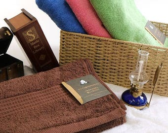 Custom Personalized Embroidered Hand and Bath Towels - Egyptian Cotton Made in India