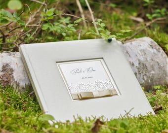 Beige Wedding Guest Book, Wedding Guest Book, Luxury Wedding Guest Book, High Quality Guest Book, Personalized Guest Book, Gift