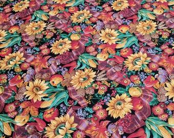 Ribbon Harvest Cotton Fabric