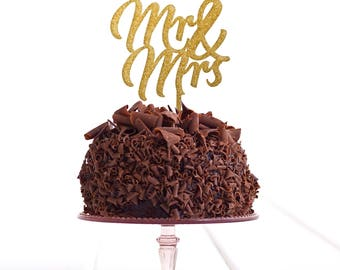 Mr & Mrs Cake Topper .r. - Wedding Cake Topper - Personalised Cake Topper - Custom Cake Topper