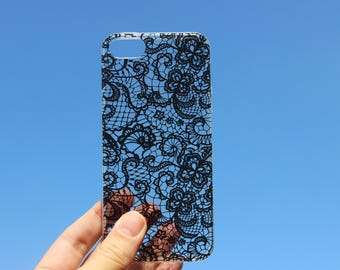 iPhone X-iPhone 10-iPhone 8-iPhone 7Plus case-White&black lace case-iPhone 5-iPhone 6-case for iPhone 6Plus-iPhone SE-iPhone 6 Plus-iphone 7