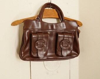 Purse retro 40's, faux leather