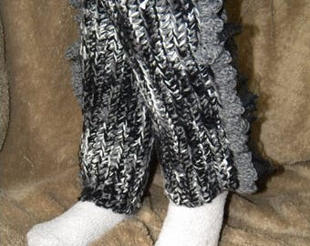 Crocheted Leg Warmers, Adult Size
