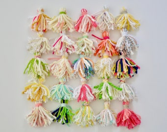 Yarn tassel garland / nursery decor / baby shower decoration / baby room / boho baby decor / bright color wallhanging / party decorations
