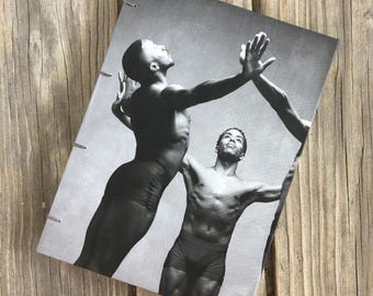 One-of-a-Kind, Hand-Bound Dust Jacket Notebook/Sketchbook - Contemporary Dance, black - SECONDS