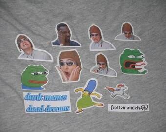 meme sticker pack - 11 pack