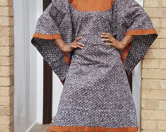 African print kaftan, Boubou dress, african print tunic
