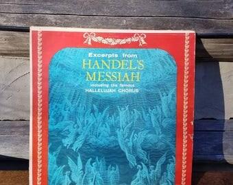 Vintage Christmas Album/Record/Vinyl- Christmas Music- Handel's Messiah- Christian- Hallelujah Chorus- Decorations/Decor- 1960's/1970's