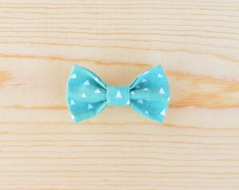 Blue Triangle Bow, White Triangle Bow, Blue Baby Bow